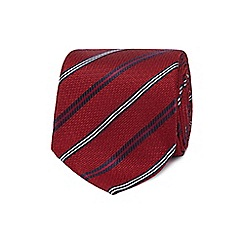 The Collection - Red textured diagonal stripe tie