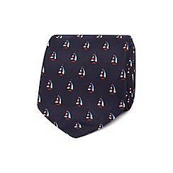 The Collection - Navy boat print tie