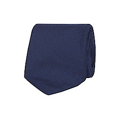 The Collection - Navy textured tie and pocket square