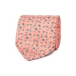 The Collection - Pink pelican print tie