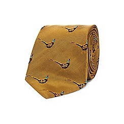 Hammond & Co. by Patrick Grant - Gold pheasant print tie