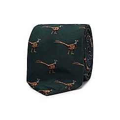 Hammond & Co. by Patrick Grant - Navy pheasant print tie