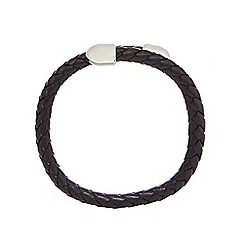 Duncan Walton - Black 'Birch' leather bracelet