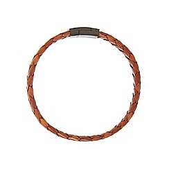 Duncan Walton - Brown 'Baker' leather bracelet