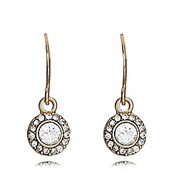 Pilgrim - Gold plated stone embellished drop earrings
