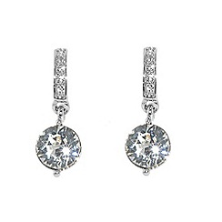 Finesse - Silver swarovski crystal drop earrings