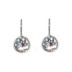 Finesse - Silver swarovski crystal leverback earrings