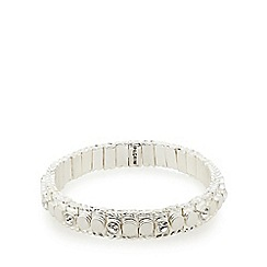 Pilgrim - Silver plated stone stretch bracelet