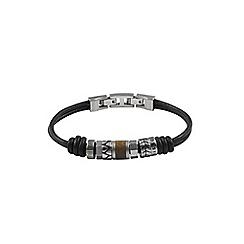 Fossil - Gents brown leather bracelet