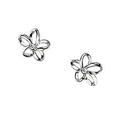 Hot Diamonds - Silver 'paradise' flower earrings