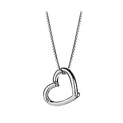 Hot Diamonds - Silver 'Just Add Love' pendant necklace