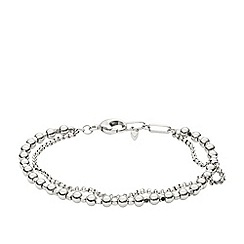Fossil - Ladies silver multi-beaded bracelet