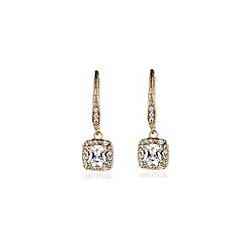 Anne Klein - Gold crystal chandelier drop earrings