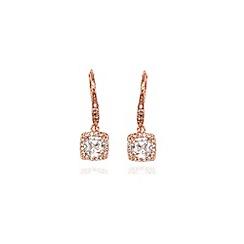 Anne Klein - Rose gold crystal chandelier drop earrings