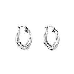 Anne Klein - Silver three ring hoop earrings