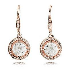 Anne Klein - Rose gold eurowire earrings