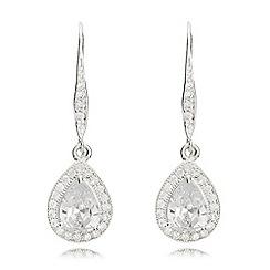 Anne Klein - Silver pear eurowire earrings