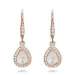 Anne Klein - Rose gold pear eurowire earrings