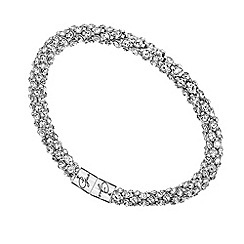 Guess - Rhodium plated embellished bangle ubb81332
