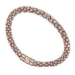 Guess - Rose gold plated pave bangle ubb81334