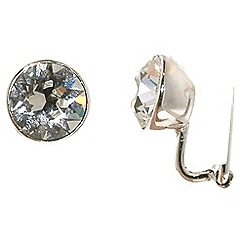 Finesse - Rhodium & swarovski crystal brilliant clip earrings