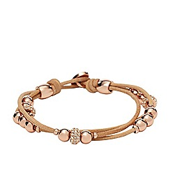 Fossil - Fossil nude and rose leather wrist wrap