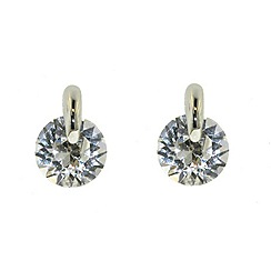 Finesse - Rhodium & pin-set Swarovski crystal earrings
