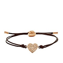 Fossil - Rose gold-tone heart wrist wrap
