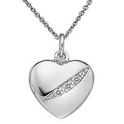 Hot Diamonds - Sterling silver diamond heart pendant
