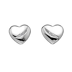 Hot Diamonds - Sterling silver diamond heart earrings