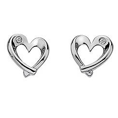 Hot Diamonds - Sterling silver diamond entwine heart earrings
