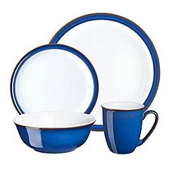 Denby - Glazed 'Imperial Blue' 16 piece dinnerware set