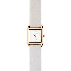 J by Jasper Conran - Ladies grey square analogue watch