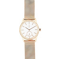 J by Jasper Conran - Ladies round crystal analogue watch