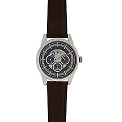 RJR.John Rocha - Men's brown skeleton mock multi dial watch