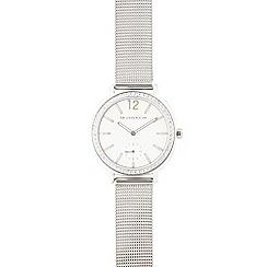RJR.John Rocha - Silver stone bezel analogue watch