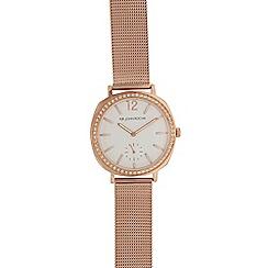 RJR.John Rocha - Ladies rose gold plated mesh analogue watch