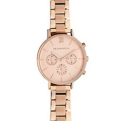 RJR.John Rocha - Ladies rose gold brushed chronographic watch