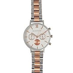 RJR.John Rocha - Silver and rose gold chronograph watch