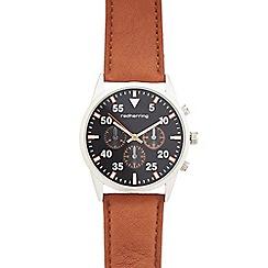 Red Herring - Men's tan mock multi-dial watch