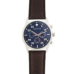 Red Herring - Men's brown mock multi-dial watch