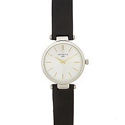 Infinite - Ladies' black leather strap analogue watch