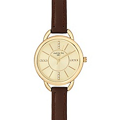 Infinite - Ladies brown leather strap watch