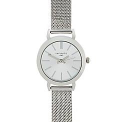 Infinite - Ladies silver mesh analogue watch