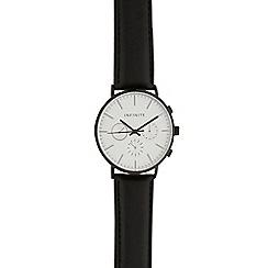Infinite - Men's black mock multi dial watch