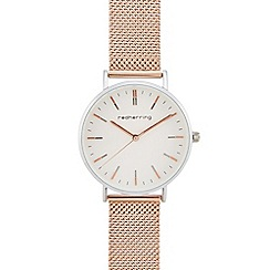 Red Herring - Ladies' rose gold mesh strap analogue watch
