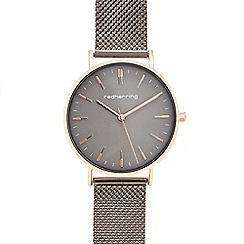 Red Herring - Ladies' grey mesh strap analogue watch
