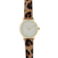 Red Herring - Ladies tan leopard print analogue watch