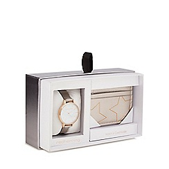 Red Herring - Grey watch and card holder gift set
