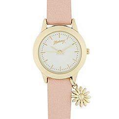 Mantaray - Ladies pink daisy charm analogue watch